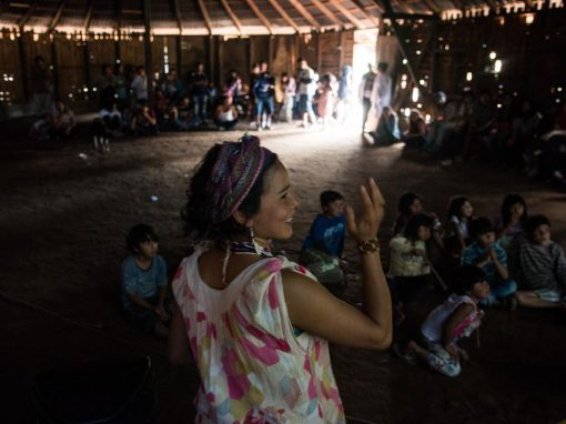 Palestra sobre a cultura guarani